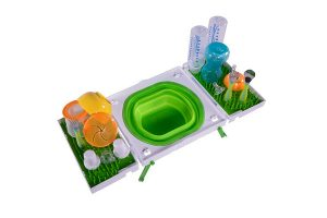 Sinkboss Display | White Background | Portable | Sanitary